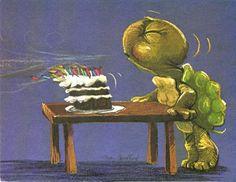 ~ Happy Birthday ~ (Vintage Suzy's Zoo card by Suzy Spafford copyright Happy Birthday Turtle, Happy Birthday Vintage, Happy Birthday Greetings, Turtle Book, Turtle Time, Happy Birthday Illustration, Reptiles, Turtle Figurines, Tortoise Turtle