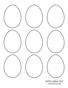 little unicorn 4 sizes of blank Easter egg shapes to print and color coloring page - Print. Unicorn Coloring Pages, Coloring Pages To Print, Preschool Sunday School Lessons, My Little Unicorn, Easter Egg Dye, Unicorn Print, Egg Shape, Egg Hunt, Cute Cards
