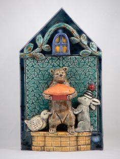 Ceramic Bear Tile by tilebyfire on Etsy