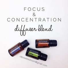"A good friend of mine told me about this diffuser blends yesterday, and I'm totally obsessed! She said it helped her four-year-old sit down and do four pages of her schoolwork without asking for help, which NEVER happens. Her daughter then looked up at her and said ""Wow Mom, what is that amazingly yummy smell in the diffuser?"" We know frankincense is great for brain health and concentration, and lime is great for energizing and refreshing. I added one drop of peppermint to give an extra…"