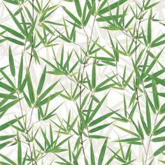 Muriva Just Like It Bamboo Pattern Leaf Motif Vinyl Wallpaper J67504                                                                                                                                                                                 More