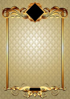 Gold elements vector backgrounds 03
