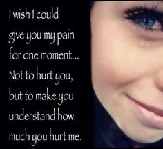 I hurt