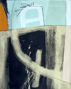 Beth Pearson ~ Speaking Very Slowly (Monoprint with goauche) #artiste abstract art