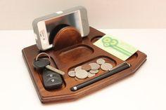 Vintage Wood Dresser Valet Desk Organizer Walnut by TheElusiveFox, $18.00