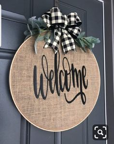 Wreaths for Front Door Spring Wreaths for Front Door Spring Spring Wreath for front door Burlap Wreath Hoop Wreath Fall Wreaths, Door Wreaths, Spring Wreaths For Front Door Diy, Floral Wreaths, Burlap Crafts, Diy And Crafts, Christmas Diy, Christmas Decorations, Christmas 2019