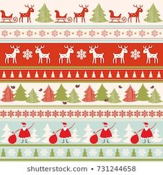 Scandinavian Seamless Pattern Stock Vector (Royalty Free) 90694426 Christmas Background, Pattern Paper, Color Patterns, Vintage Christmas, Scandinavian, Projects To Try, Royalty Free Stock Photos, Greeting Cards, Illustration