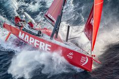 March 19, 2015. MAPFRE tackles steep and angry seas as they pass East Cape, the eastern-most point of New Zealand Ainhoa Sanchez / Volvo Ocean Race