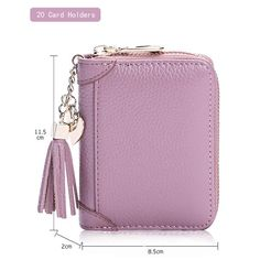 a43e4f63d0a5 Genuine Leather Multi-slots 20/40/60 Card slots Zipper Card Holder Держатели