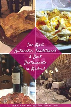 Reviews of the Best Restaurants in Madrid. Experience authentic food and culture in the most famous and most traditional restaurants you will ever encounter