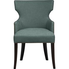 Sasha Arm Chair with Leather Welt in Dining Chairs   Crate and Barrel