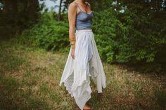 DIY: layered lace skirt
