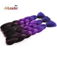Ombre Kanekalon purple braiding hair three toned jumbo braids synthetic mambo twist Purple ombre expressions braiding hair