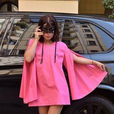 """Mi piace"": 1,770, commenti: 23 - M A T R Y O S H K A . G (@matryoshka.g) su Instagram: ""Day 2 "" Pink Panter "" New collection #ss17 #dress - shirt Now #shop Online  www.modablogger.eu ✔️…"""