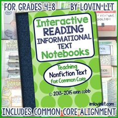 After learning about interactive notebooks two summers ago, I resolved to use this technique for every concept I taught to my 6th, 7th, and 8th grade literature students. Now that I've used this in my classroom for over a year, I have compiled all of my interactive notebooking lessons for teaching nonfiction text strategies here.