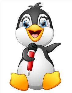 Vector cartoon hand painted cute singing microphone penguin PNG and Vector Penguin Clipart, Penguin Cartoon, Cartoon Birds, Penguin Art, Cute Cartoon, Animal Masks For Kids, Mask For Kids, Goodnight Moon Book, Penguin