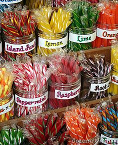 the feel: colorful stick candies. a hint of the past. I loved buying these at old timey stores (and cracker barrel) as a kid.