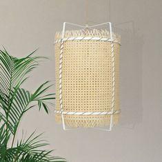 Rattan Cane Pendant Light Bamboo Basket Lamp Modern Rustic Lighting Boho Home Decor Rustic Lighting, Brass Ceiling Light, Lamp, Rattan Pendant Light, Handmade Lighting, Bamboo Lamp, Rustic Fabric, Pendant Light, Rustic Chandelier