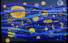 "Foto: RHYTHM OF THE MOON Size: 50 x 68.5 cm (19.7"" x 27"") Materials: Stained Glass, Smalti"