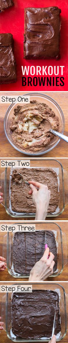 "you are one of those people who love healthy desserts, definitely add these healthy brownies to your ""must try"" list!If you are one of those people who love healthy desserts, definitely add these healthy brownies to your ""must try"" list! Healthy Sweets, Healthy Baking, Healthy Sweet Treats, Heathy Treats, Healthy Food, Healthy Desserts, Dessert Recipes, Healthy Recipes, High Protein Desserts"