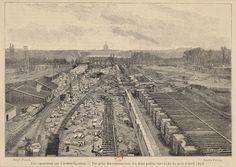 Paris 1898, les chantiers des Champs-Élysées, (1898) par © Photo Bnf Rmn - Grand Palais