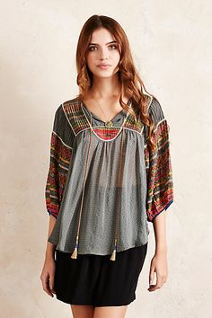 Anthropologie EU Shanti Peasant Top