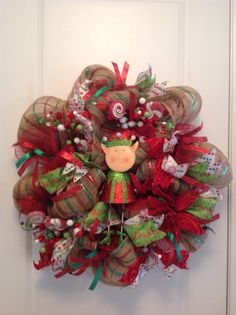 Hey, I found this really awesome Etsy listing at https://www.etsy.com/listing/211448449/christmas-elf-wreath