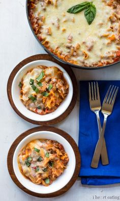 Easy One-Skillet Lasagna |  Delicious 30-minute lasagna that's made entirely in one skillet.