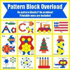 FREE* Pattern Block Templates