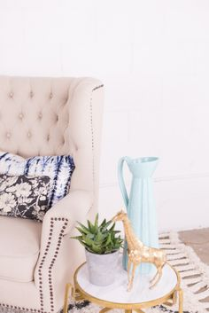 Mr. Kate Decorates with David Bromstad | I used a blue color story with metallic accents to tie my space together!