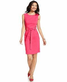 Ellen Tracy Sleeveless Tie-Front Sheath Rachael