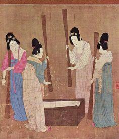 """Beating"" Silk (China, xii century)."