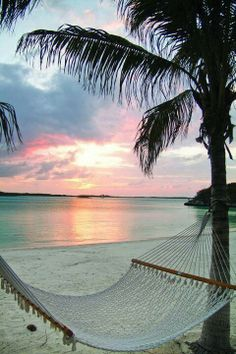 Private beach, hammock, and a perfect sunset