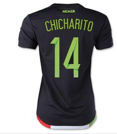 Mexico Jersey 2015/16 Jersey Women's Home Soccer Shirt #14 J.HERNANDEZ for $16 on Soccer777.net