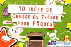 Idées de Chasse au Trésor pour Pâques avec les scénario et les explications ! Faire une chasse au trésor pour Pâques avec des enfants.