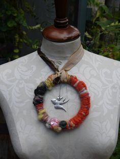 recycled bohemian necklace