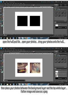 free template for instagram photos at 4 x 6 in photoshop!