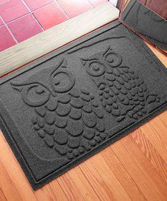 Love this Charcoal Aqua Shield Owls Mat on #zulily! #zulilyfinds