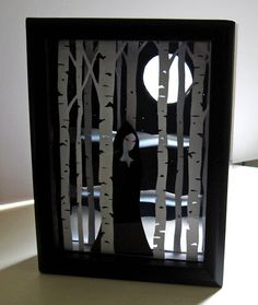Halloween Box Decorations Shadowbox  Fall  Pinterest