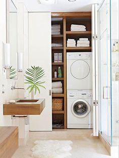 espace laveuse-sécheuse