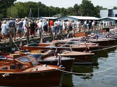 The annual Antique Boat Show in Mount Dora, Florida (just west of Orlando).