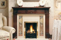 Minton Hollins Panel Tiles - Give your fireplace an authentic victorian appearance by using classic Minton Hollins panel tiles, with 9 different designs to choose from starting at Victorian Tiles, Tile Panels, Wall Tiles, Fireplaces, Flooring, Classic, Design, Home Decor, Miniatures
