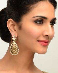 Filigree Gold-Drop Earrings by Bansri