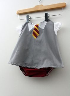 Harry Potter Hogwarts baby onsie uniform... omg... my future children are going to hate me...