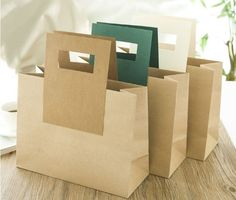Yellow craft paper bag, special paper bag, order made paper bag