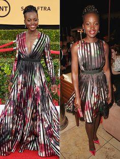 Lupita Nyong'o at the 2015 #SAGAwards in #ElieSaab via People Magazine #houseoferlanger