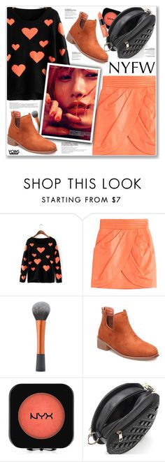 """""""LOVE YOINS"""" by nanawidia ❤ liked on Polyvore featuring Balmain and NYX"""