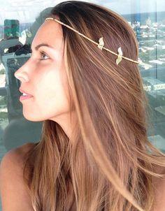 head jewelry head band gold wings angel by LittleShivaa on Etsy, $49.00