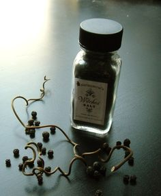 Witches salt, looks like juniper berries, I wonder if you just add salt?