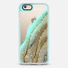 FLAWLESS AQUA FAUX GOLD by Monika Strigel iPhone 6 plus - Classic Snap Case